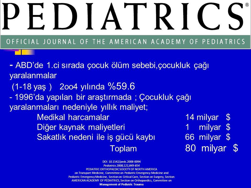 Çocuklarda … Vücut kitle indeksi küçük Karaciğer ve dalak önde yerleşimli Kas ve yağ dokusu az, iç organ yaralanma riski fazladır.