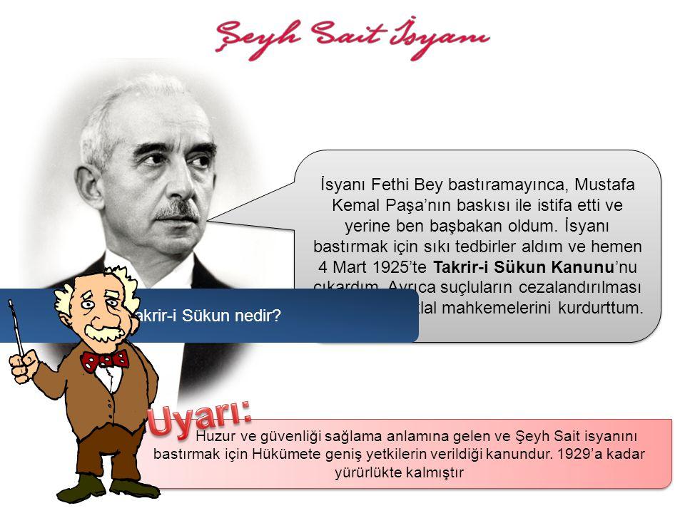 Şeyh Sait önderliğinde, 13 Şubat 1925'de Diyarbakır'ın Ergani ilçesine bağlı olan Piran köyünde başlayan ayaklanma, kısa sürede Doğu ve Güneydoğu Anad