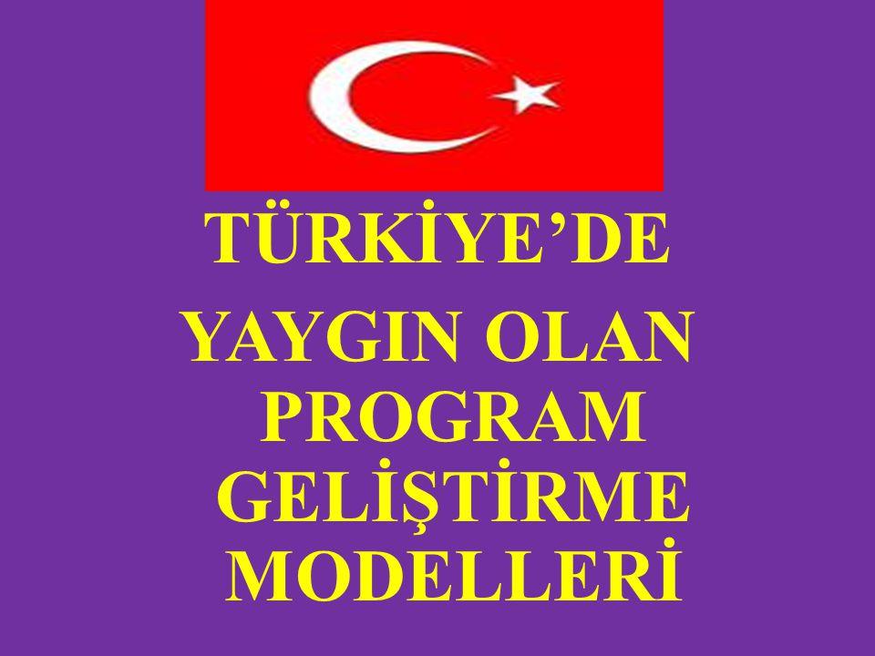 TÜRKİYE'DE YAYGIN OLAN PROGRAM GELİŞTİRME MODELLERİ