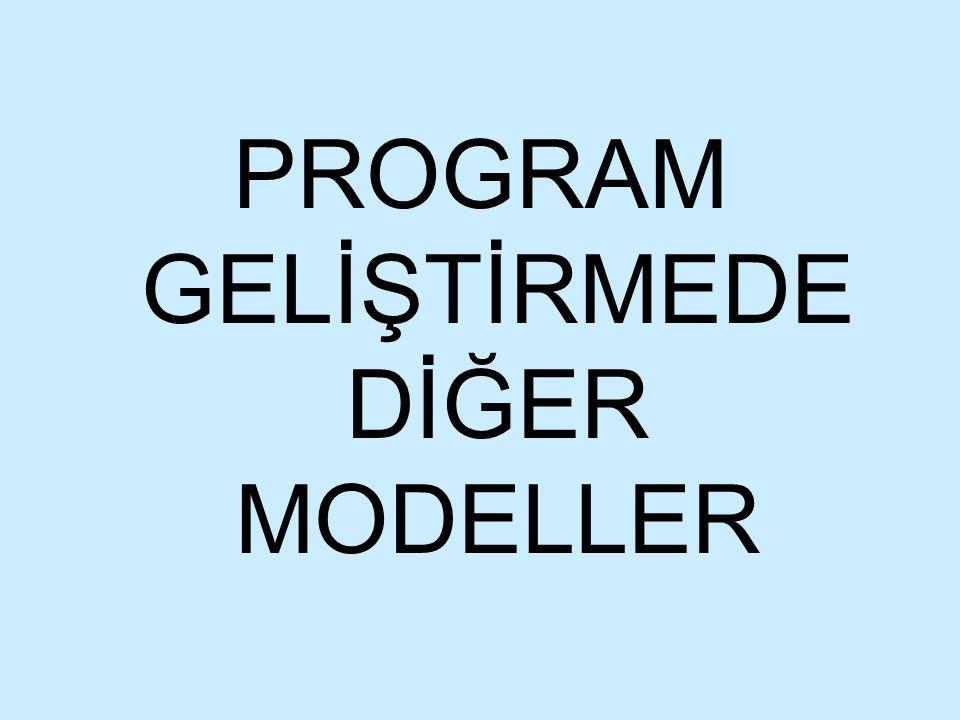 PROGRAM GELİŞTİRMEDE DİĞER MODELLER