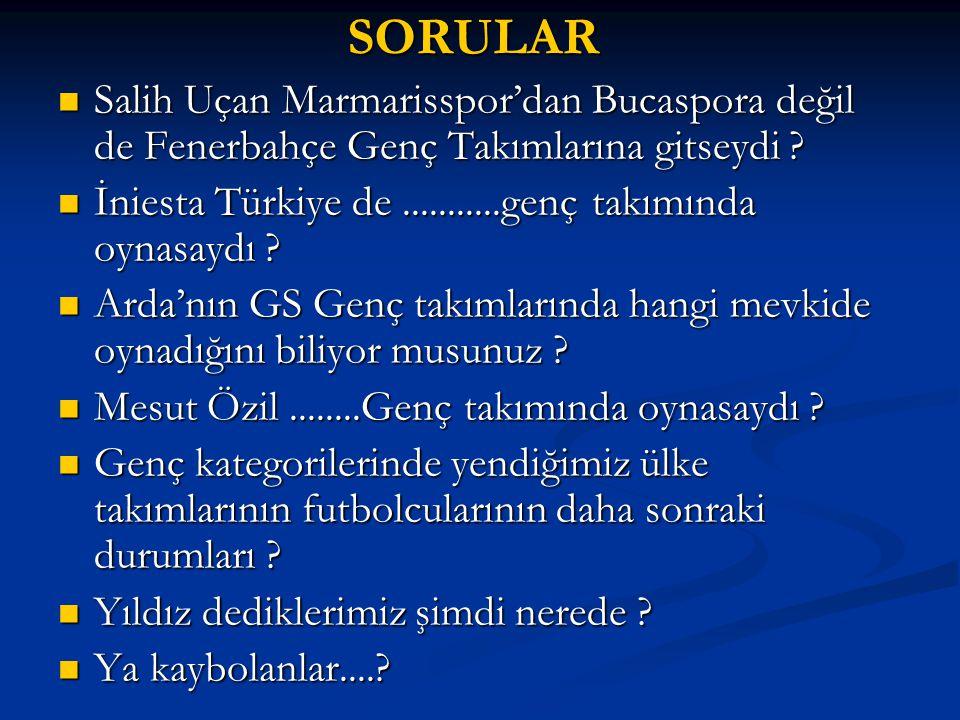 SORULAR Salih Uçan Marmarisspor'dan Bucaspora değil de Fenerbahçe Genç Takımlarına gitseydi .