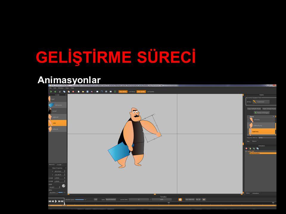 GELİŞTİRME SÜRECİ Animasyonlar