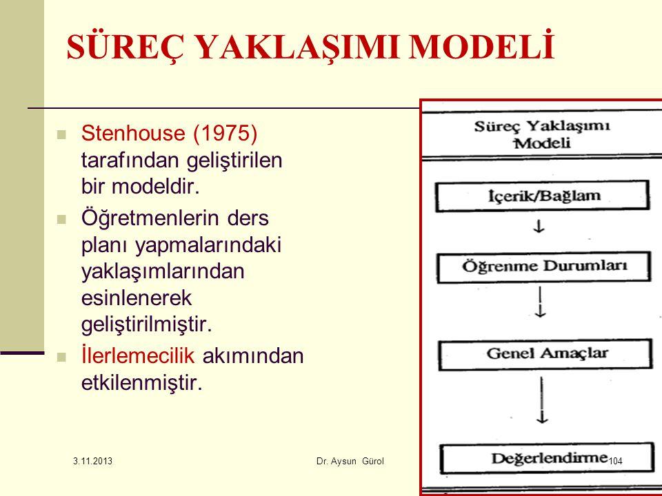 Stenhouse (1975) tarafından geliştirilen bir modeldir. Öğretmenlerin ders planı yapmalarındaki yaklaşımlarından esinlenerek geliştirilmiştir. İlerleme