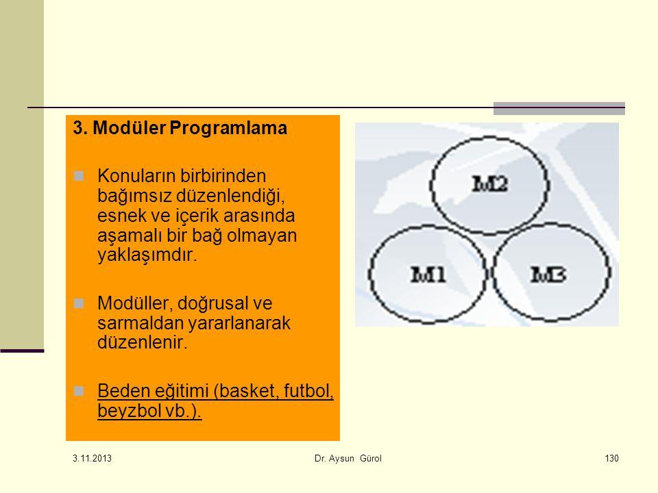 130 3. Modüler Programlama Konuların birbirinden bağımsız düzenlendiği, esnek ve içerik arasında aşamalı bir bağ olmayan yaklaşımdır. Modüller, doğrus