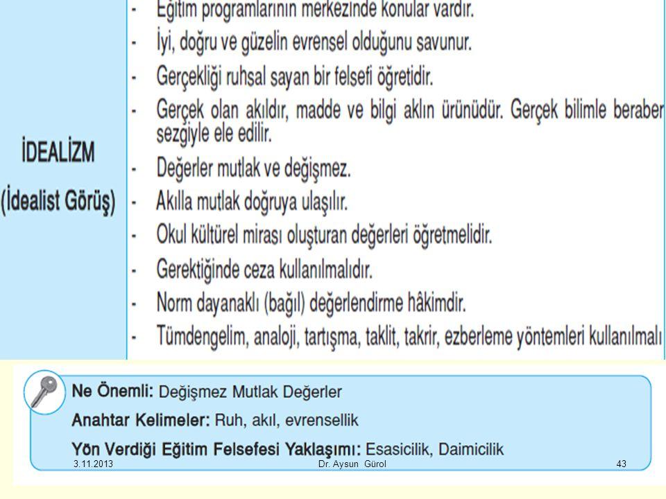 43 3.11.2013 Dr. Aysun Gürol