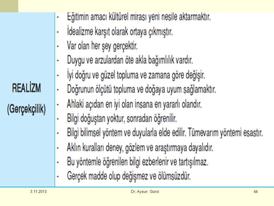 44 3.11.2013 Dr. Aysun Gürol