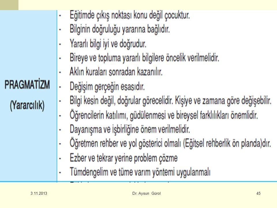 45 3.11.2013 Dr. Aysun Gürol