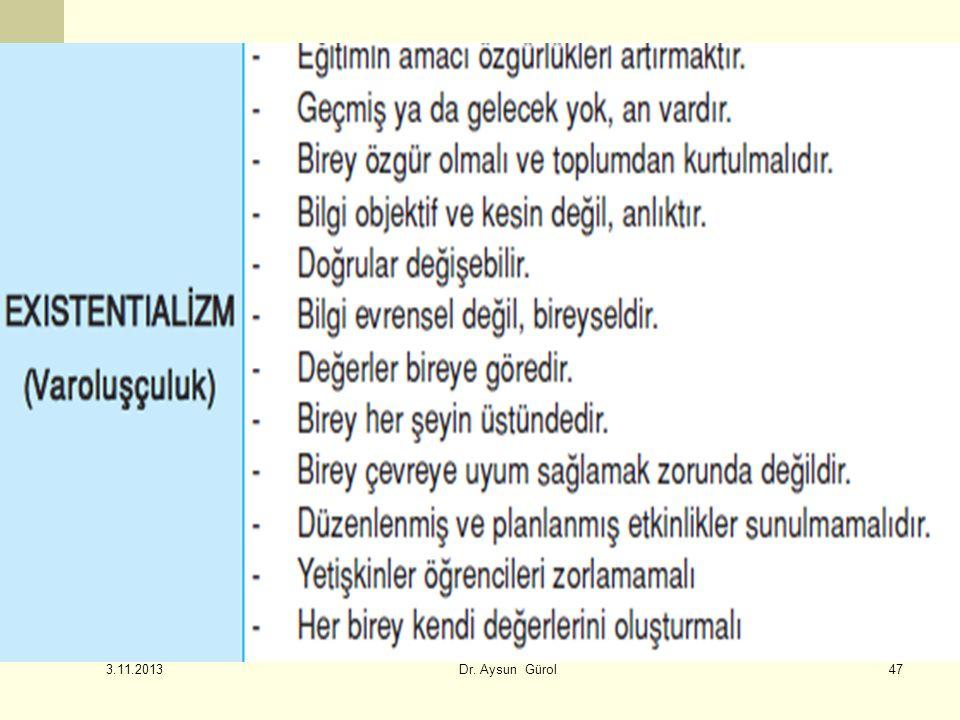 47 3.11.2013 Dr. Aysun Gürol