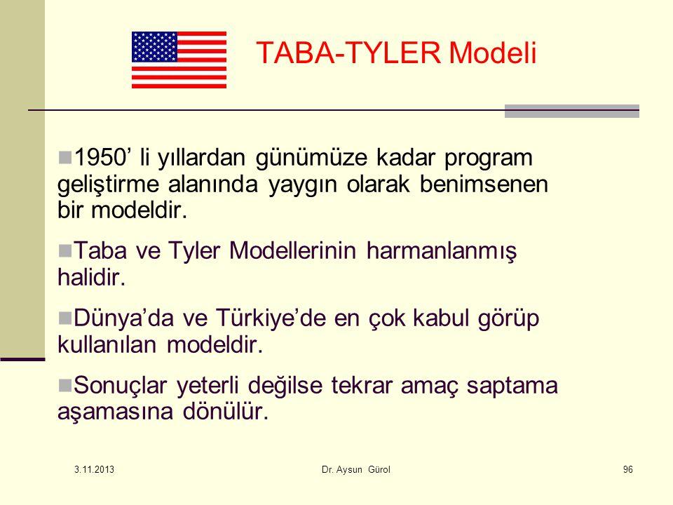 1950' li yıllardan günümüze kadar program geliştirme alanında yaygın olarak benimsenen bir modeldir. Taba ve Tyler Modellerinin harmanlanmış halidir.
