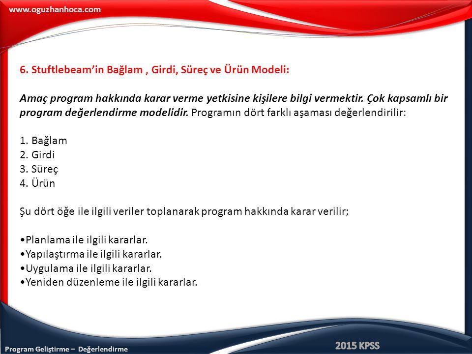 Program Geliştirme – Değerlendirme www.oguzhanhoca.com 6.