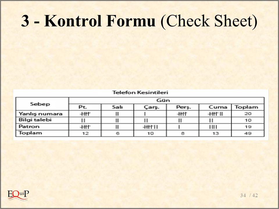 / 4234 3 - Kontrol Formu (Check Sheet)