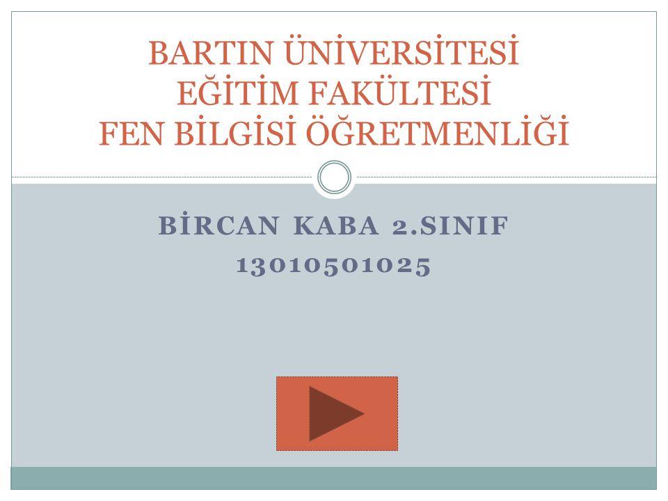 BİRCAN KABA 2.SINIF 13010501025 BARTIN ÜNİVERSİTESİ EĞİTİM FAKÜLTESİ FEN BİLGİSİ ÖĞRETMENLİĞİ