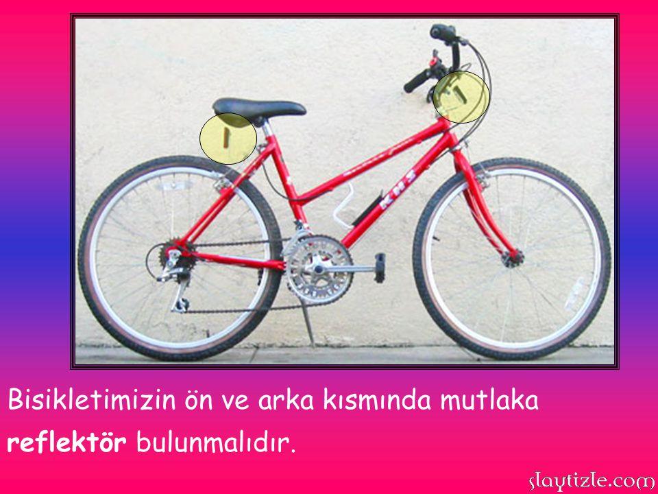 Kafamıza kask takmadan bisiklete binmemeliyiz. Kask bir kazada kafamızı yani beynimizi korur.