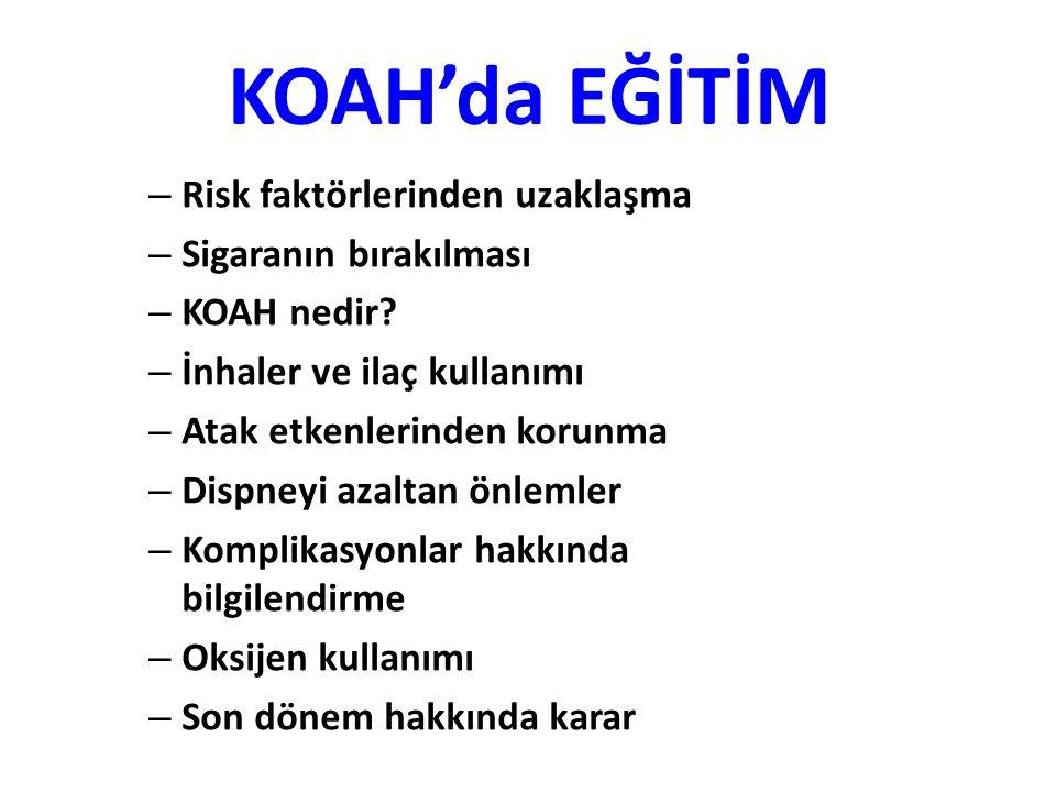 KOAH'da EĞİTİM – Risk faktörlerinden uzaklaşma – Sigaranın bırakılması – KOAH nedir.