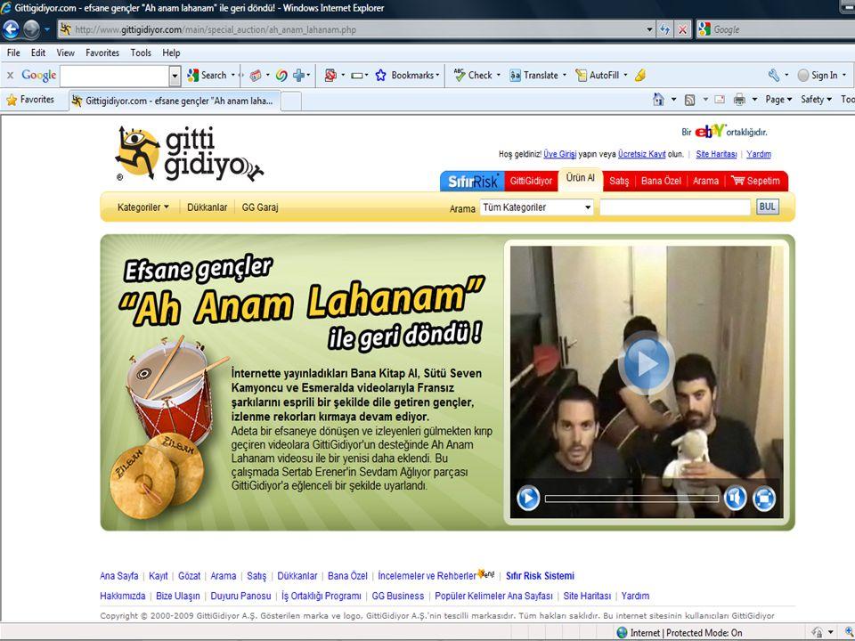- 27 Web 2.0 Teknolojileri ve Uygulamaları Çalıştayı, 4 Aralık 2009, Beytepe-Ankara