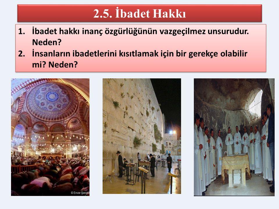 ANAYASA Madde 24.- Herkes, vicdan, dinî inanç ve kanaat hürriyetine sahiptir… Kimse ibadete, dinî âyin ve törenlere katılmaya, dinî inanç ve kanaatler