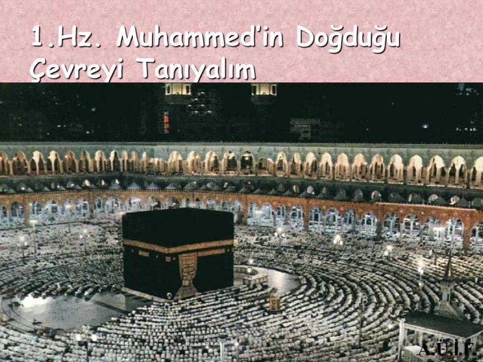 Peygamberimizin yaşadığı yer hakkında ne biliyorsun? Ailenden hiç oraya giden oldu mu? A.Ü. İ.F.