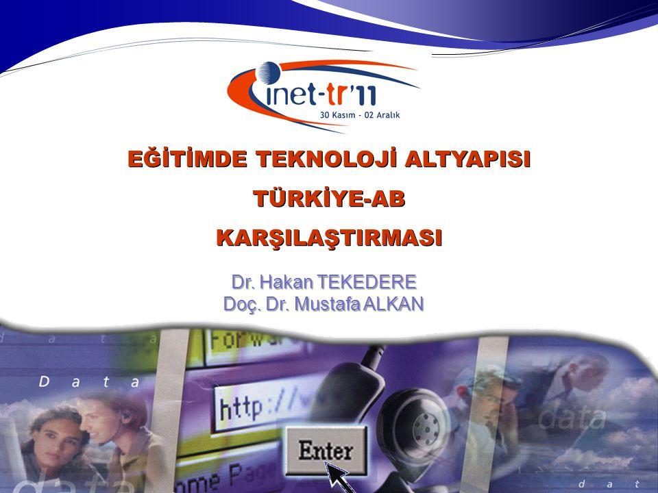 Dr. Hakan TEKEDERE Doç. Dr. Mustafa ALKAN EĞİTİMDE TEKNOLOJİ ALTYAPISI TÜRKİYE-ABKARŞILAŞTIRMASI