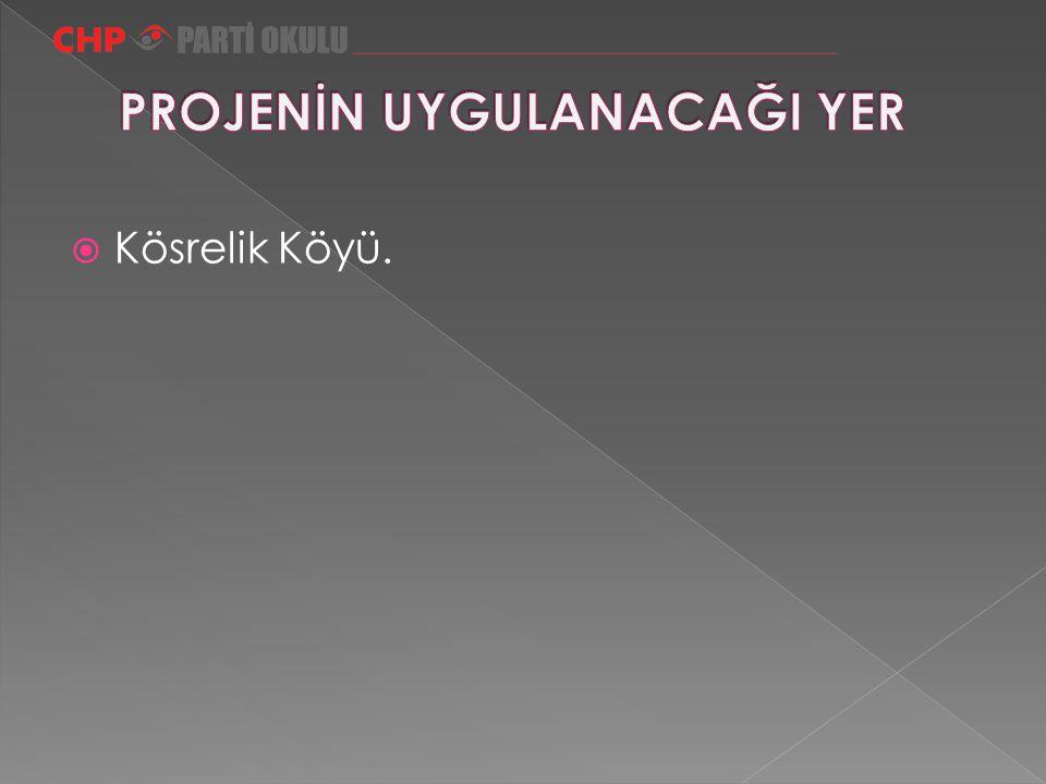  Kösrelik Köyü.