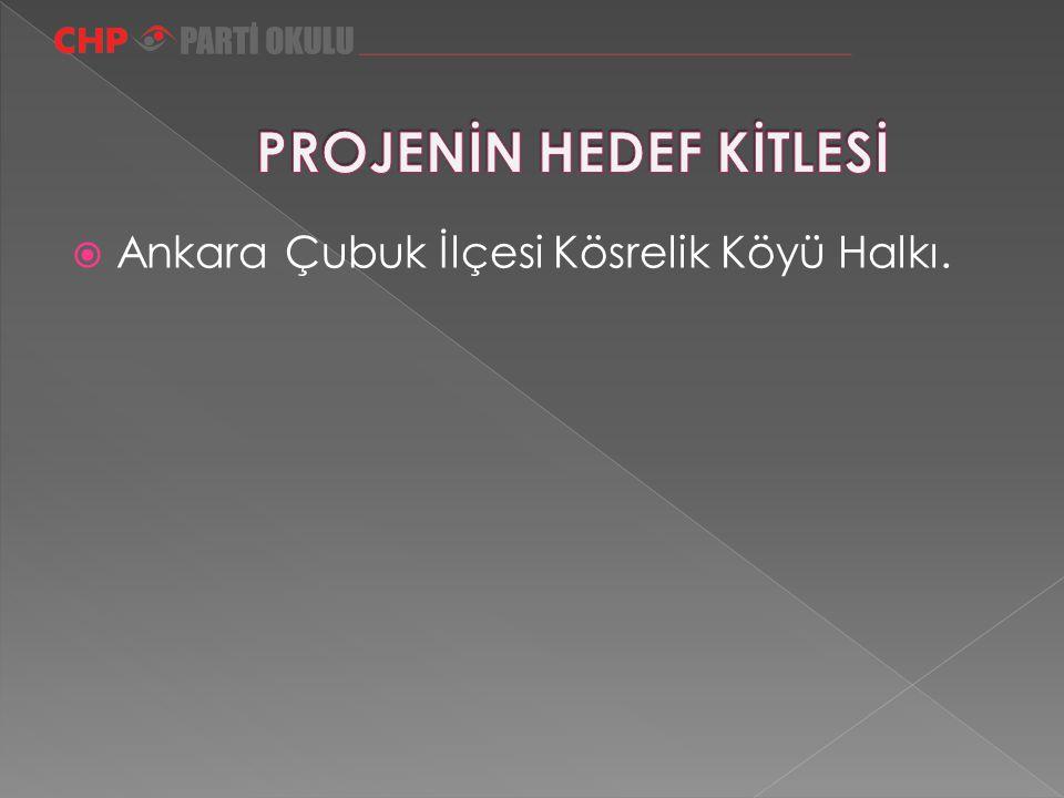  Ankara Çubuk İlçesi Kösrelik Köyü Halkı.