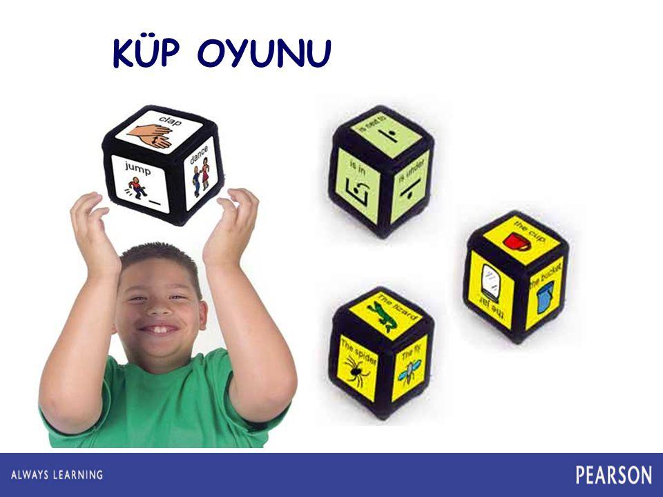 İki farklı küp hazırlayabilir yada aynı ebatta 2 kutudan faydalanabiliriz. Küplerden birisinin yüzeylerini resimler ile diğerini kelimelerle ile kapla