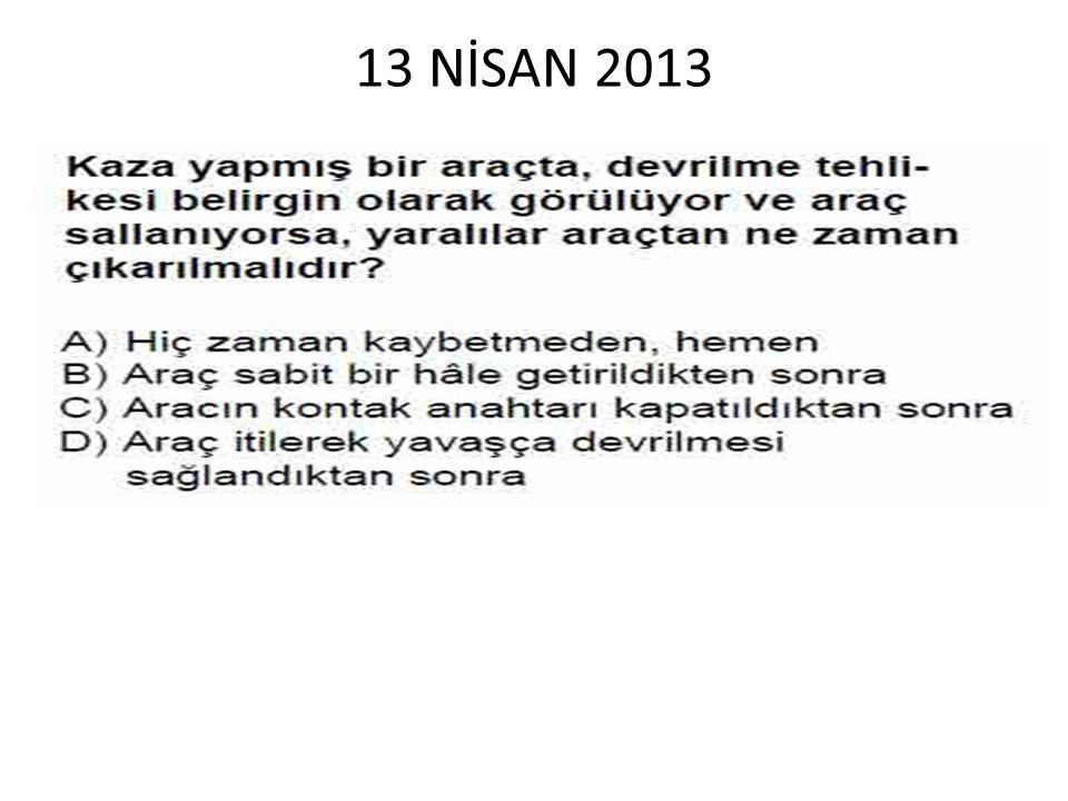 13 NİSAN 2013