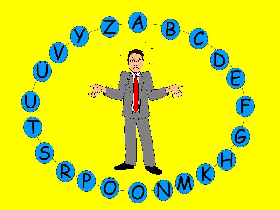 M Ü V Y Z E D C B A U T G F S P Ö O H K N R