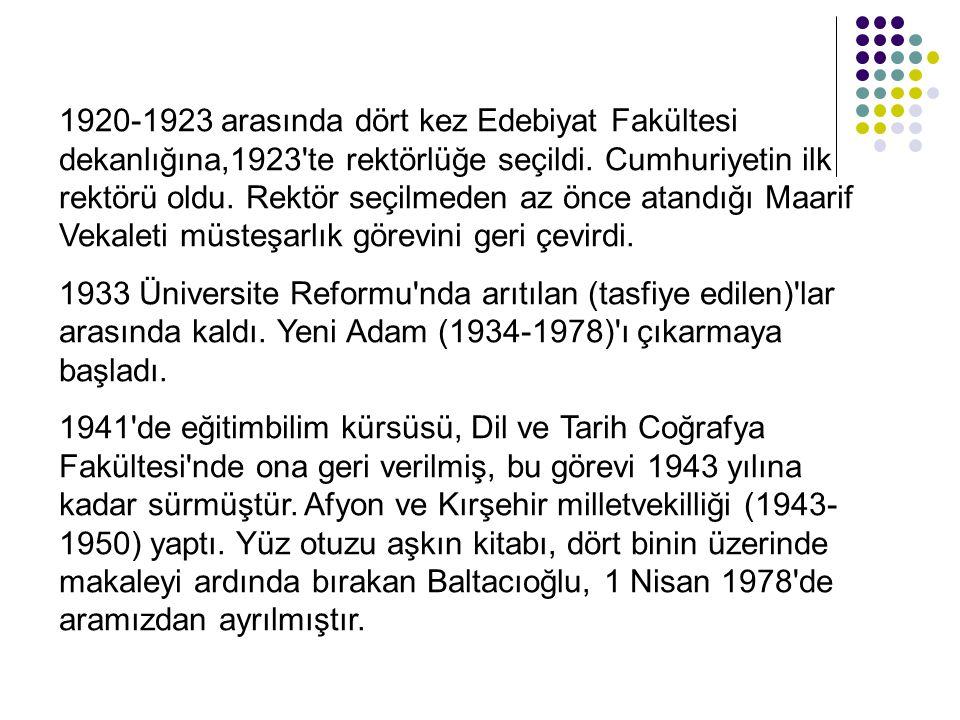 Baltacıoğlu, içtimai mektep te Batı'lı reformist eğitimcilerin tek tek veya birkaçını birlikte savunarak üzerinde durdukları şahsiyet , tabii çevre , çocuğa görelik , faliyet , ekonamik verim gibi çağdaş eğitim ilkelerinden hareket ederek, bu ilkeleri bir sistem içerisinde bütünleştirmeye çalışmıştır.
