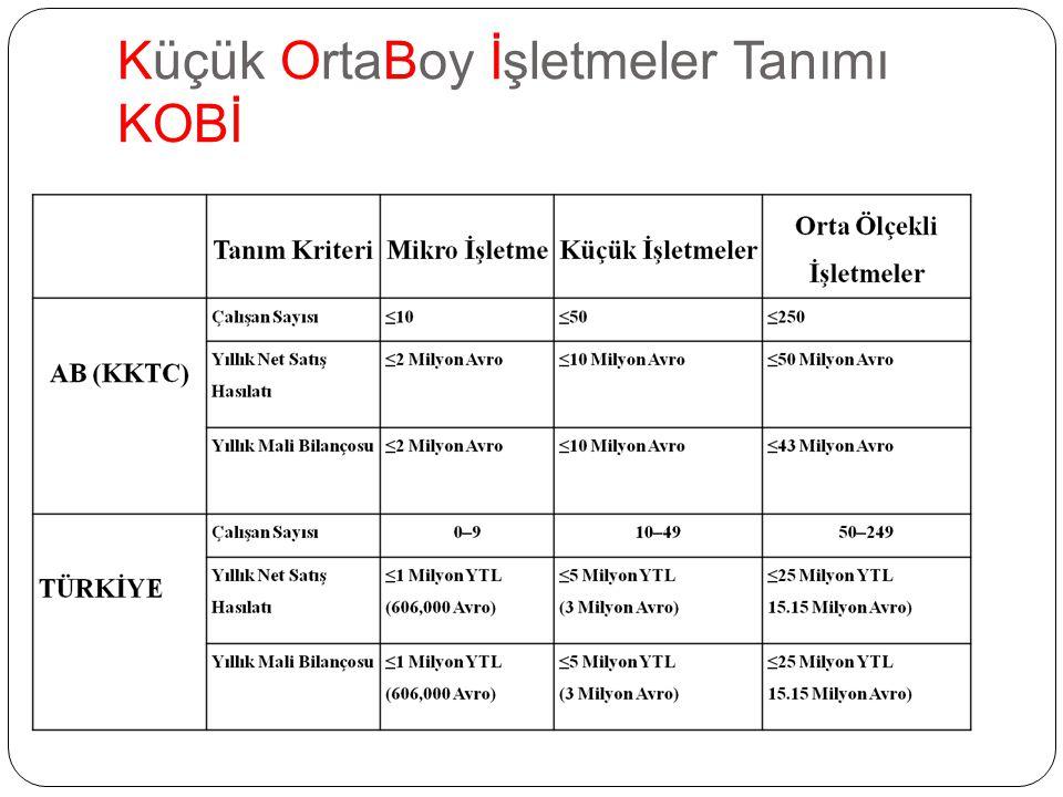 Küçük is ̧ letmelerin sorunlarının tespitine yönelik KOSGEB tarafından 2007 yılında gerçekles ̧ tirilen ve Türkiye genelinde 70.298 küçük ve orta büyüklükteki is ̧ letmede Küçük ve orta büyüklükteki is ̧ letmelerin %64'ü I ̇ nternet kullanmakta ve %34'ünün web sayfası bulunmaktadır.