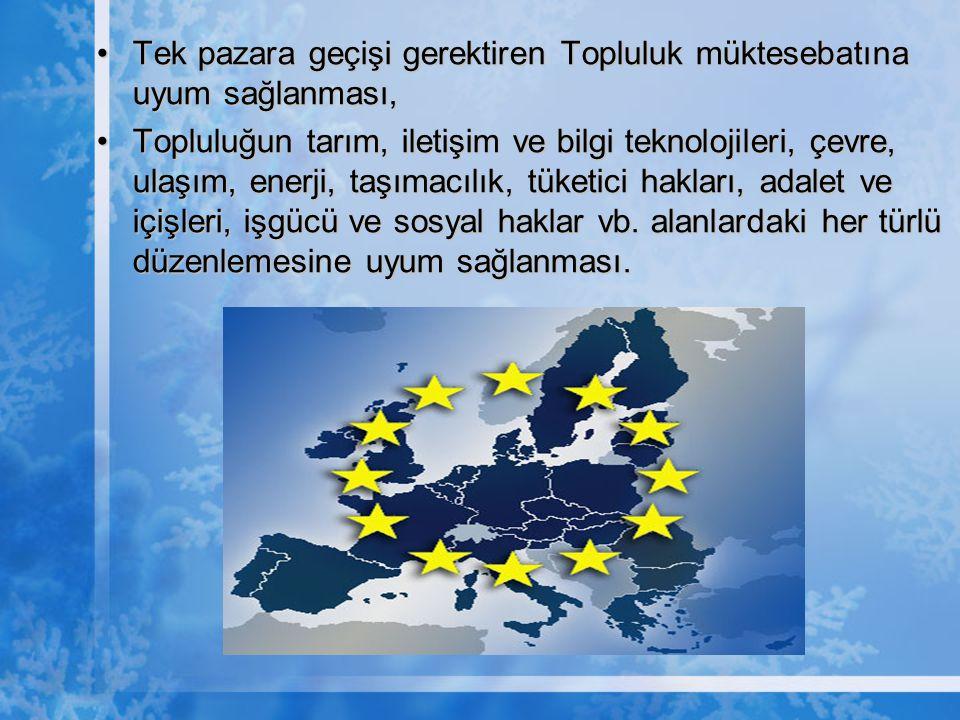  NOT ; 1999 yılında AB üyeleri tarafından aday olarak kabul edilen Türkiye, 2005 yılında Kopenhag Kriterleri kapsamında yapılan değerlendirmelerden sıyrılarak tam üyelik müzakerelerine başlamıştır.