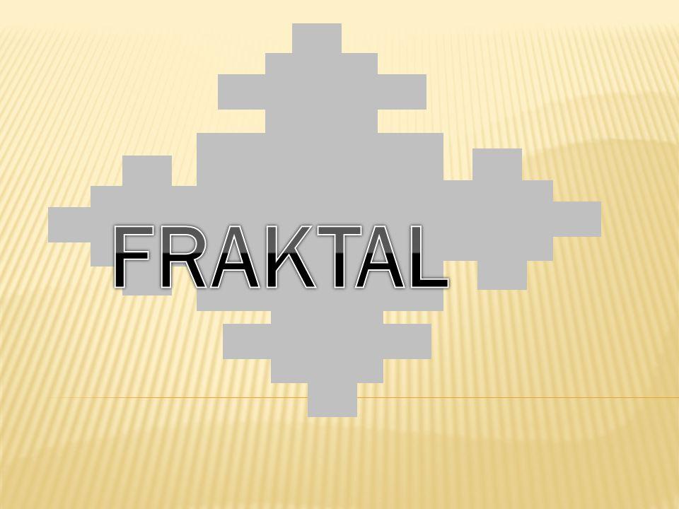 Fraktal: Fraktal, parçalanmış ya da kırılmış anlamına gelen Lâtince fractus kelimesinden gelmiştir.