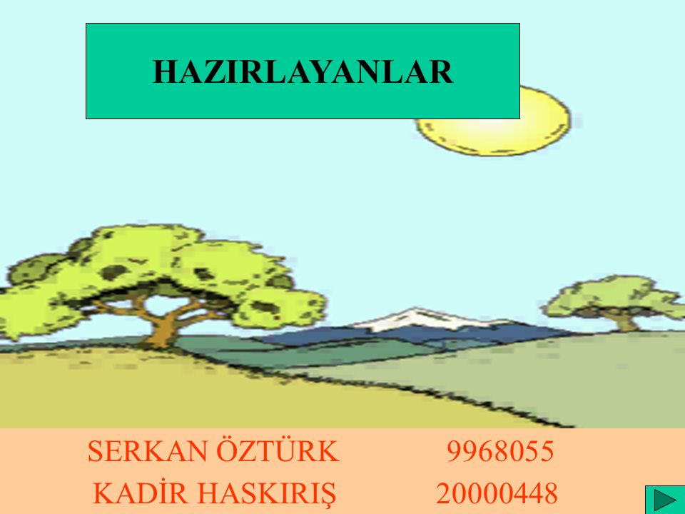 HAZIRLAYANLAR KADİR HASKIRIŞ 20000448 SERKAN ÖZTÜRK 9968055