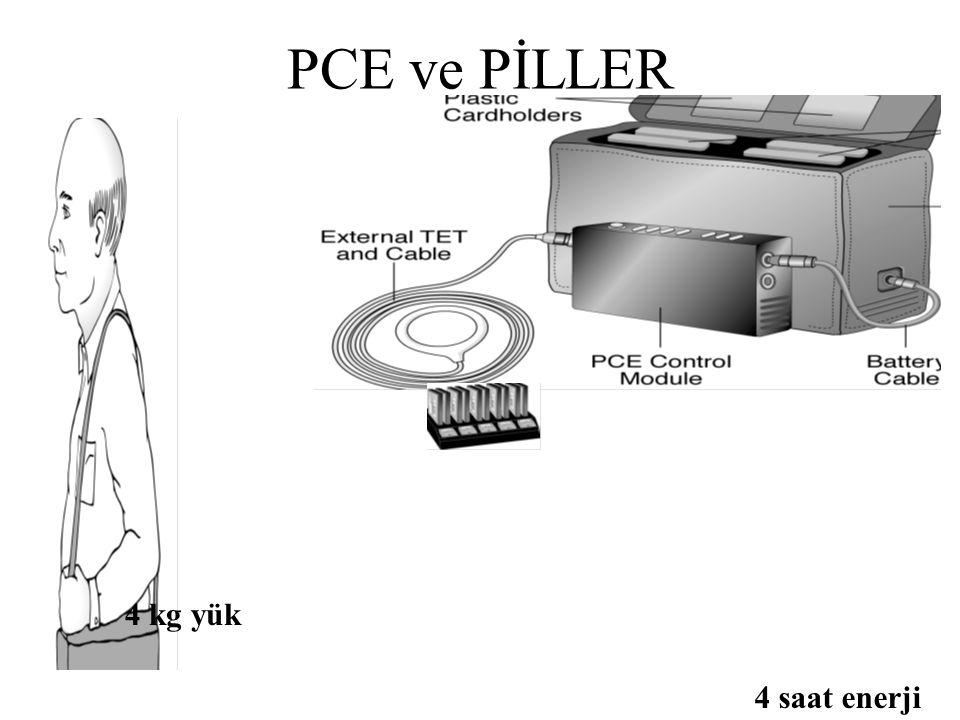 PCE ve PİLLER 4 kg yük 4 saat enerji
