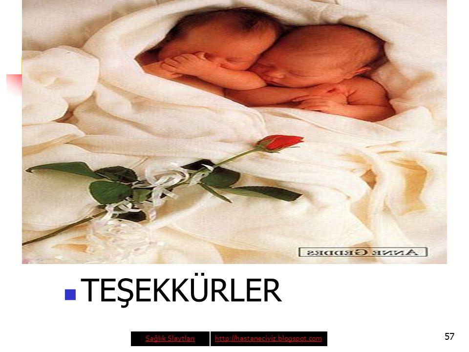 57 TEŞEKKÜRLER Sağlık Slaytlarıhttp://hastaneciyiz.blogspot.com