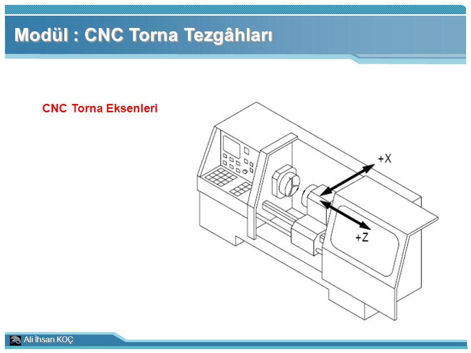 Ali İhsan KOÇ Modül : CNC Torna Tezgâhları CNC Torna Eksenleri