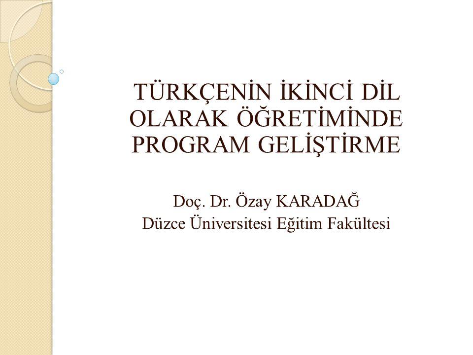 Çözüm: Avrupa Dilleri Öğretimi Ortak Çerçeve Metni esas alınarak hazırlanacak İkinci Dil Olarak Türkçe Öğretim Programı Bu programın hazırlanabilmesi için öncelikli olarak ihtiyaç analizlerinin yapılması gerekmektedir.