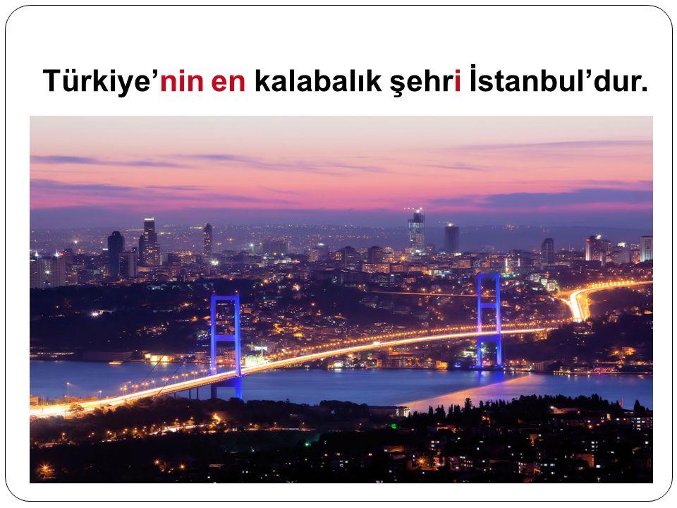 Türkiye'nin en kalabalık şehri İstanbul'dur.