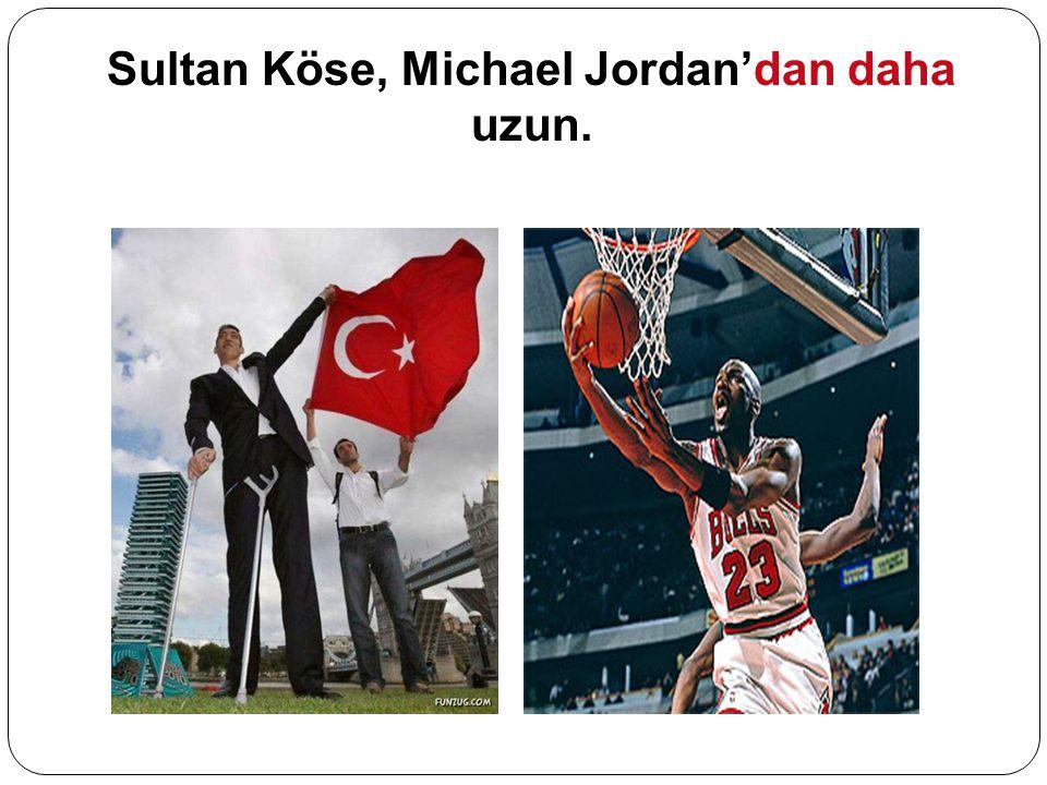 Sultan Köse, Michael Jordan'dan daha uzun.