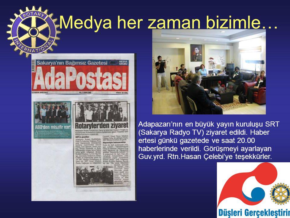 Medya her zaman bizimle… Adapazarı'nın en büyük yayın kuruluşu SRT (Sakarya Radyo TV) ziyaret edildi.