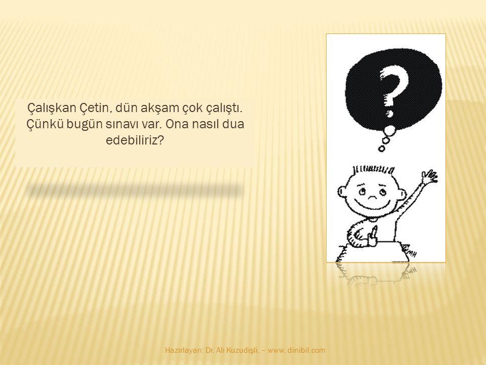 Bu bayan çok meşgul… Ne diyelim? Hazırlayan: Dr. Ali Kuzudişli. – www. dinibil.com