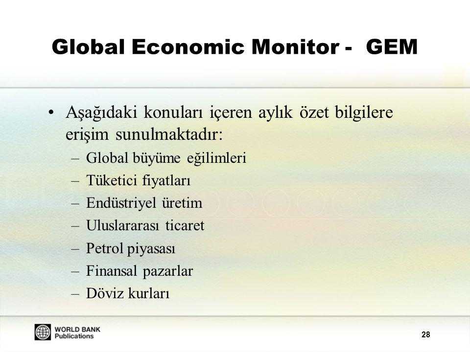 29 Global Economic Monitor - GEM