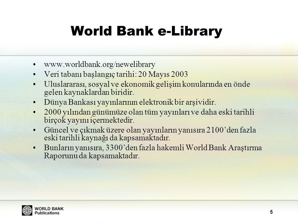 6 e-Library: Özellikler Ingenta tarafından desteklenmektedir.