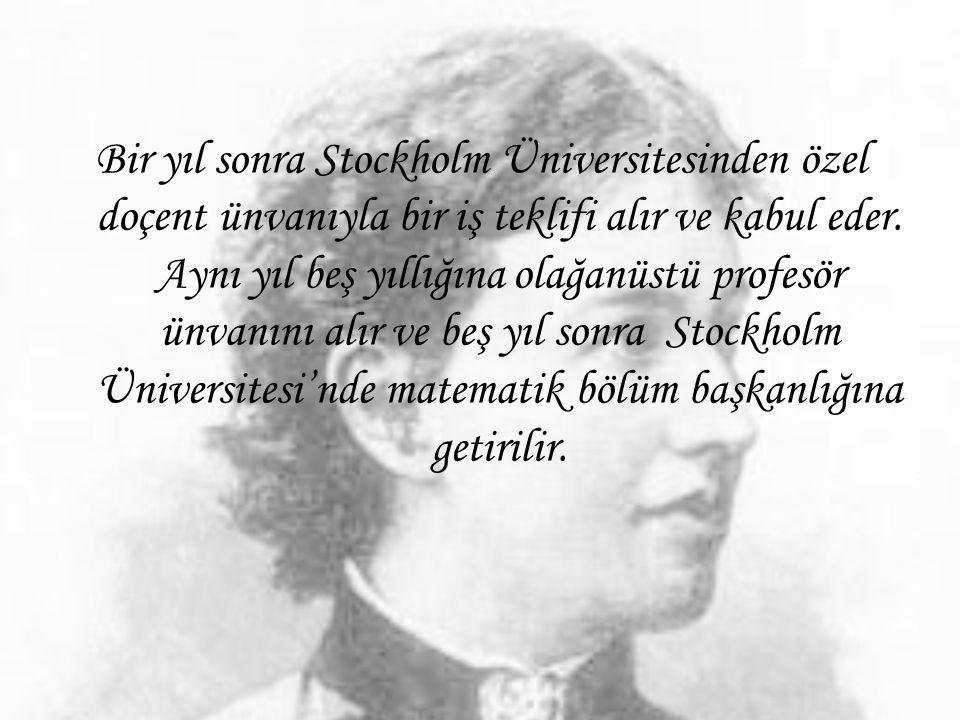 Bir yıl sonra Stockholm Üniversitesinden özel doçent ünvanıyla bir iş teklifi alır ve kabul eder. Aynı yıl beş yıllığına olağanüstü profesör ünvanını