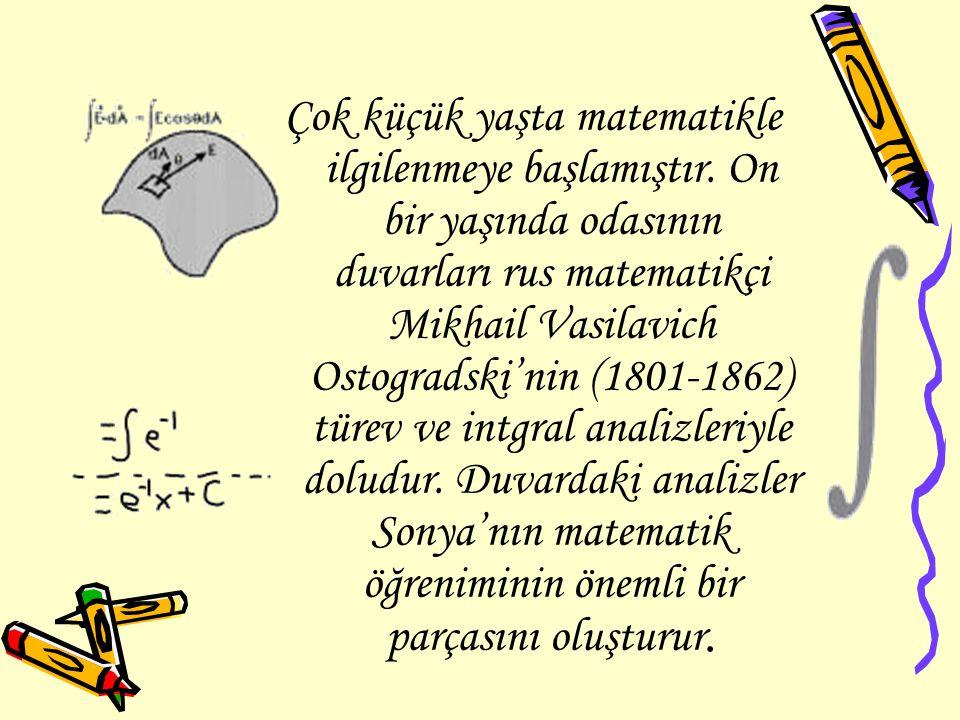 Çok küçük yaşta matematikle ilgilenmeye başlamıştır. On bir yaşında odasının duvarları rus matematikçi Mikhail Vasilavich Ostogradski'nin (1801-1862)