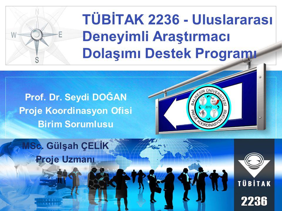 LOGO TÜBİTAK 2236 - Uluslararası Deneyimli Araştırmacı Dolaşımı Destek Programı Prof.