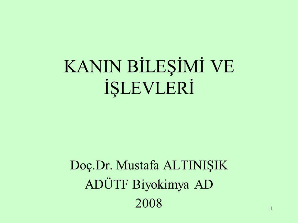 1 KANIN BİLEŞİMİ VE İŞLEVLERİ Doç.Dr. Mustafa ALTINIŞIK ADÜTF Biyokimya AD 2008