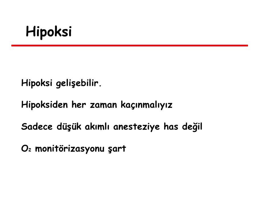 Hipoksi Hipoksi gelişebilir.