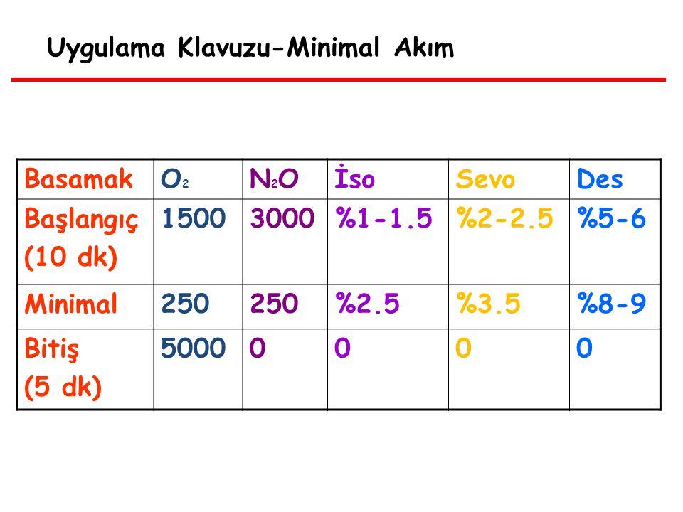 Uygulama Klavuzu-Minimal Akım BasamakO2O2 N2ON2OİsoSevoDes Başlangıç (10 dk) 15003000%1-1.5%2-2.5%5-6 Minimal250 %2.5%3.5%8-9 Bitiş (5 dk) 50000000