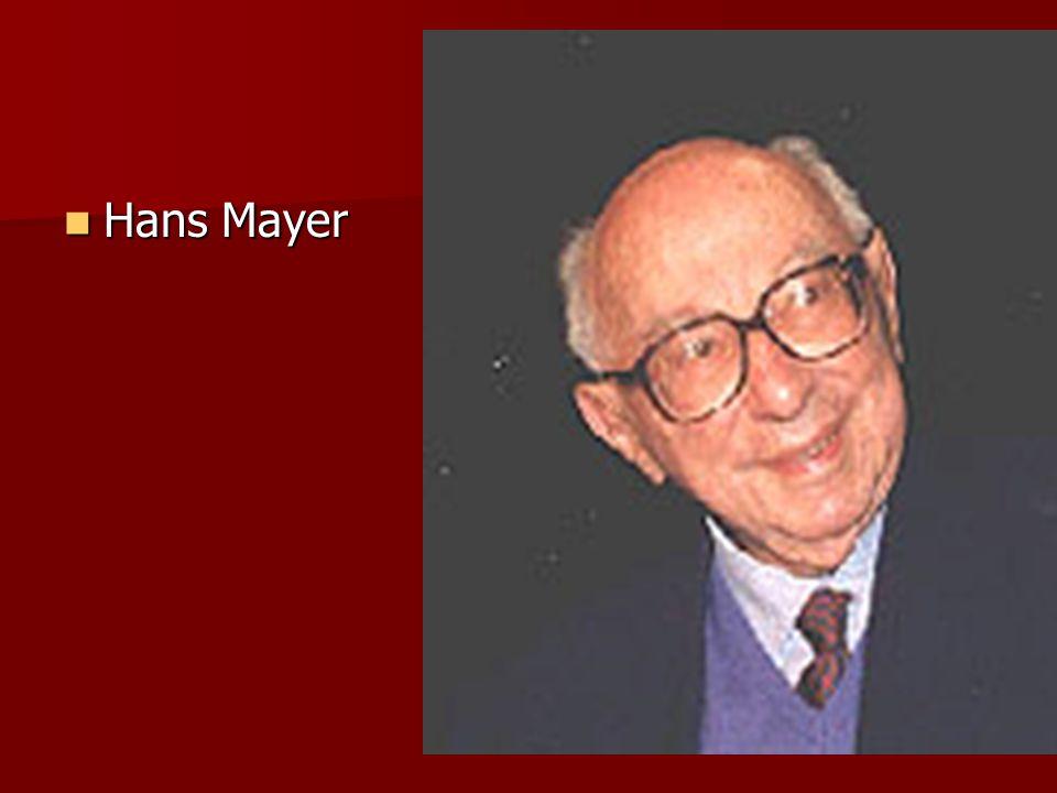 Hans Mayer Hans Mayer