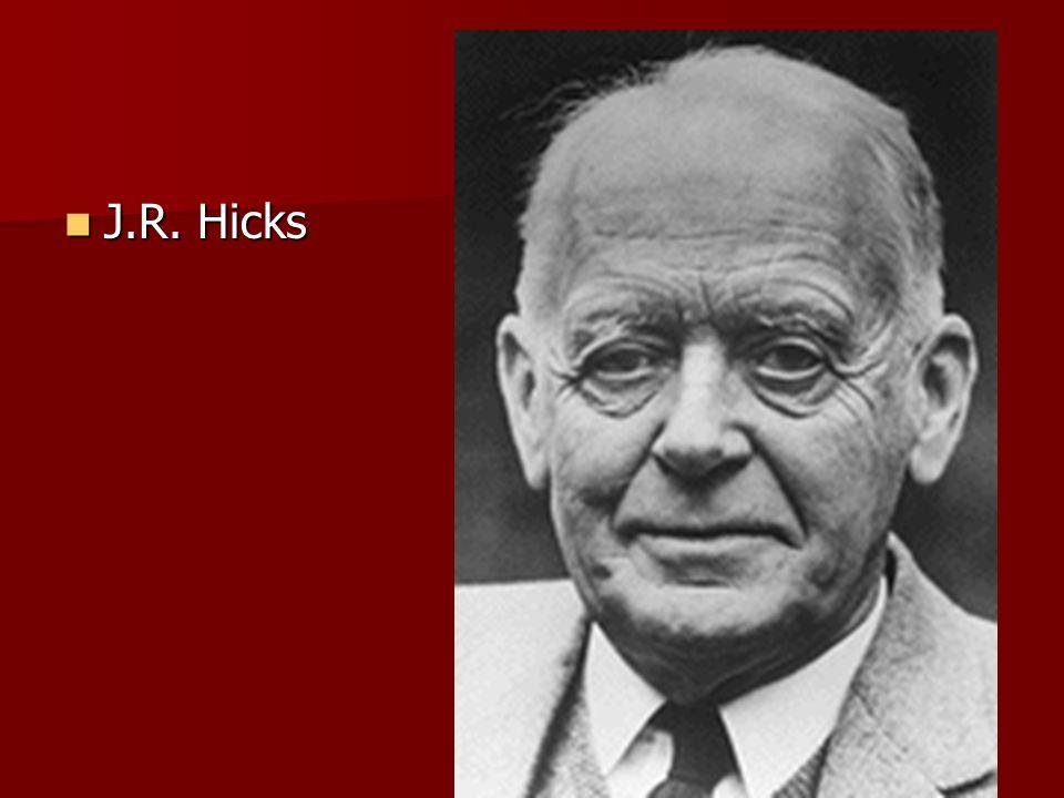 J.R. Hicks J.R. Hicks